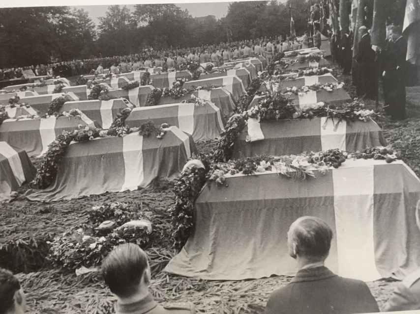 August 29, 1945. 106 patriots killed during the occupation re-buried in Ryparken
