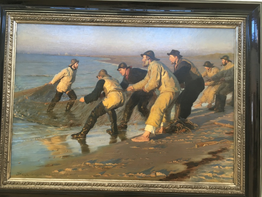 P.S. Kroeyer : Fishermen hauling a net at Skagen Northern beach