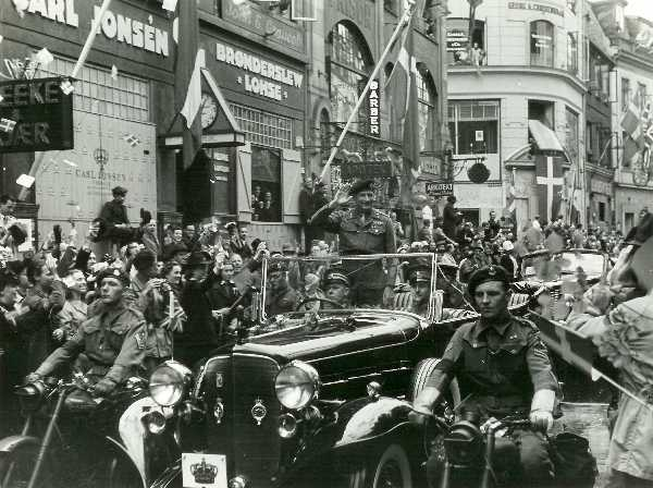Montgomery  in the streets of Copenhagen May 1945