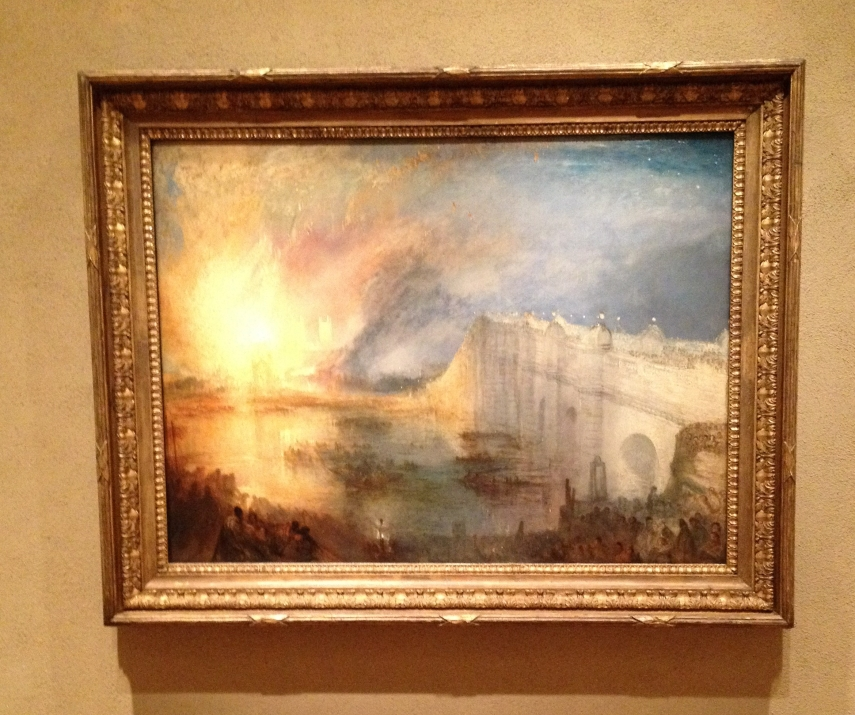 The Burning of the Houses of Parliament, October 16, 1834. William Turner English