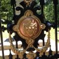 The iron-cast door at Jefferson's graveyard