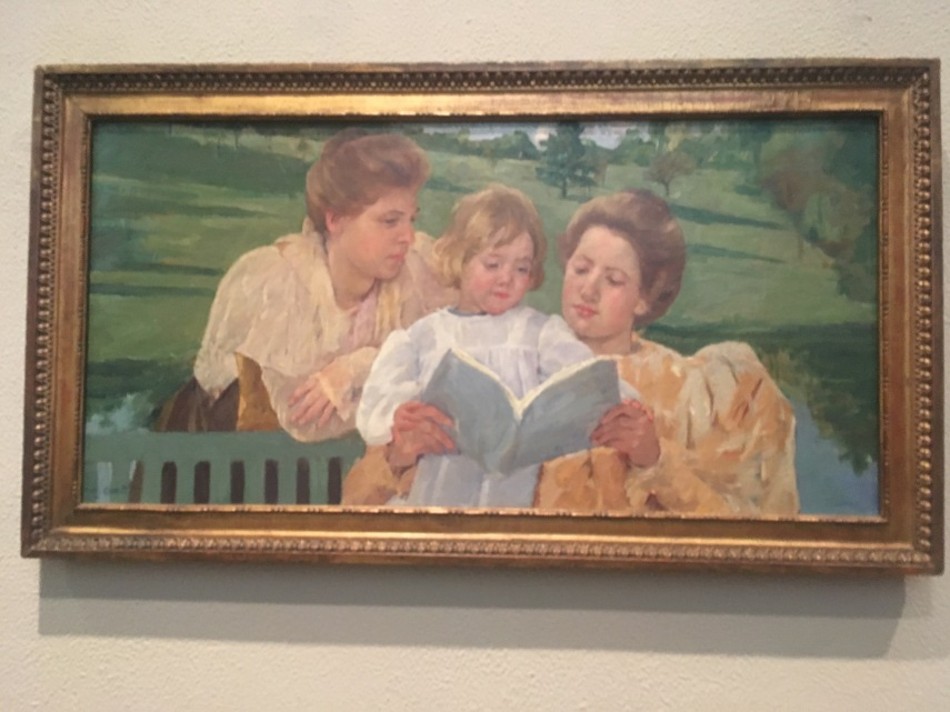 Family Group Reading c. 1901. American Mary Cassatt (1844-1926)