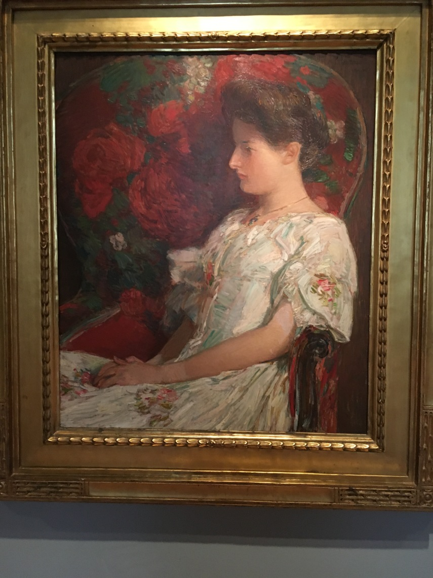The Victorian Chair 1906, Childe Hassam born Dorchester MA 1859- died East Hampton NY 1935