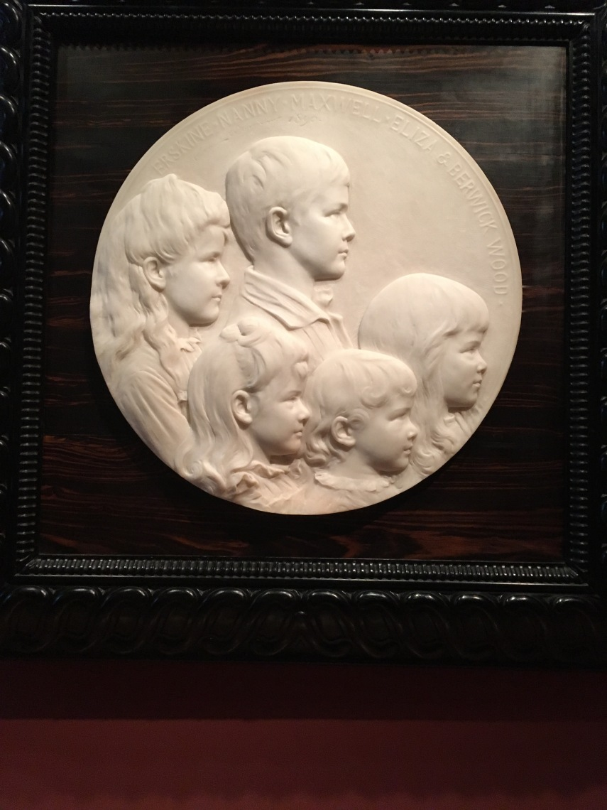 Erskine, Nanny, Maxwell, Elza and Berwick Wood 1890, Olin Levi Warner