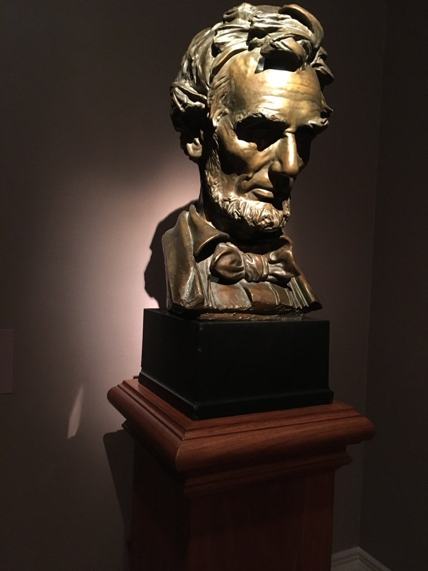 Abraham Lincoln modelled 1887, cast 1923 by Augustus Saint-Gaudens born in Ireland died in NH 1907