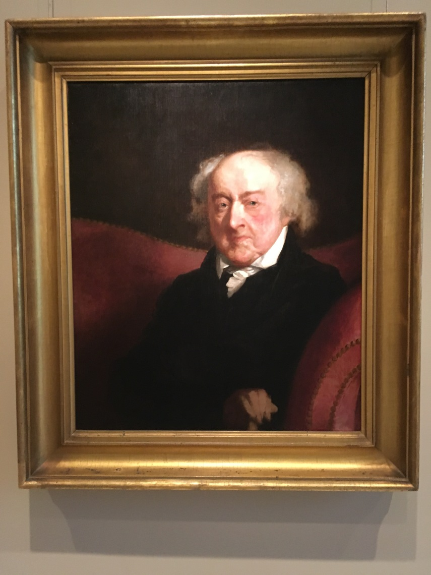 John Adams (1735-1826) painted by Gilbert Stuart in 1826