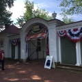 The Entrance to Mount Vernon, decorated for the July 4th Celebration