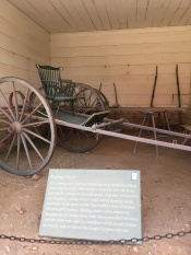 A Riding Chair similar to what George Washington used on the rough Virginia terrain