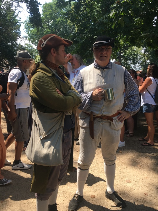 Two actors from the Revolutionary time at Mount Vermont.