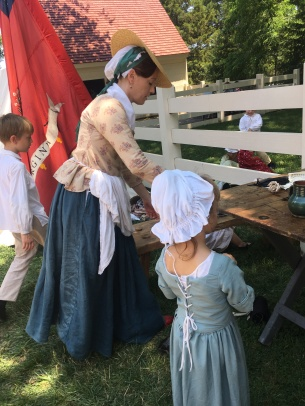 One of the soldiers' wives and children at Mount Vermont