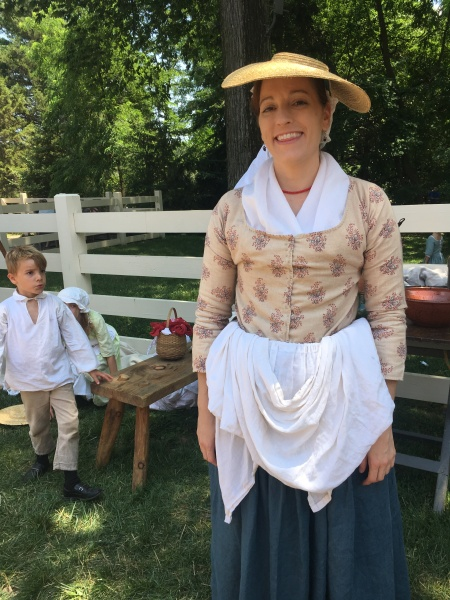 One of the soldiers' wives and child at Mount Vermont