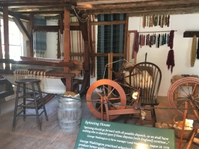 Spinning House at Mount Vermont. Washington wanted to be independent and be able to produce their own clothes