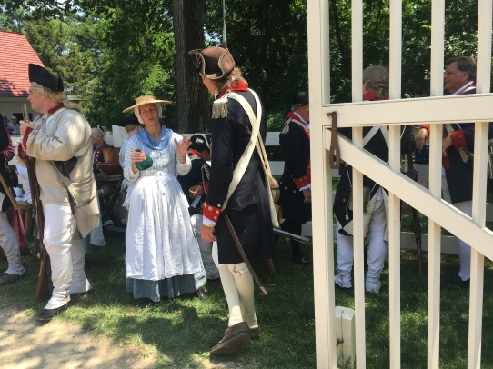 Some of the actors from the Revolutionary times at Mount Vermont