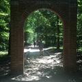 An arch near Washington's gravesite entering through to the slavegravesites