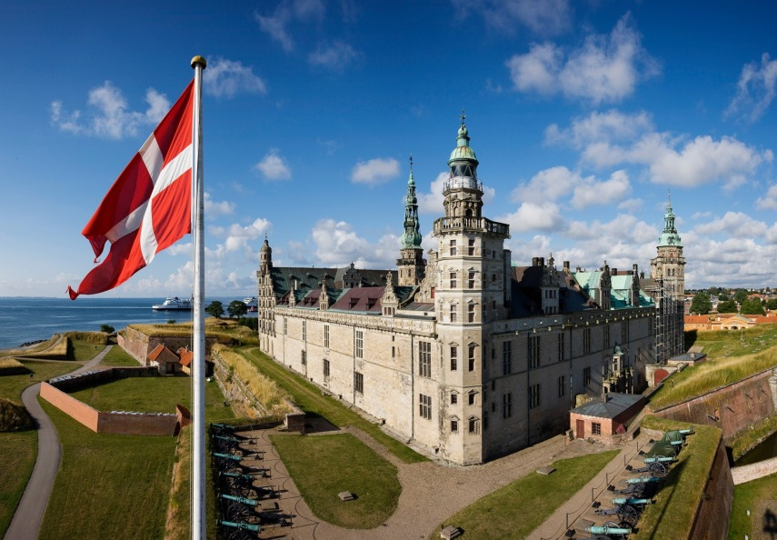 Dannebrog and Kronborg Found public domain