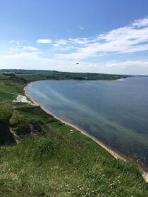 View to Limfjorden from the Hanklit on Mors in Denmark