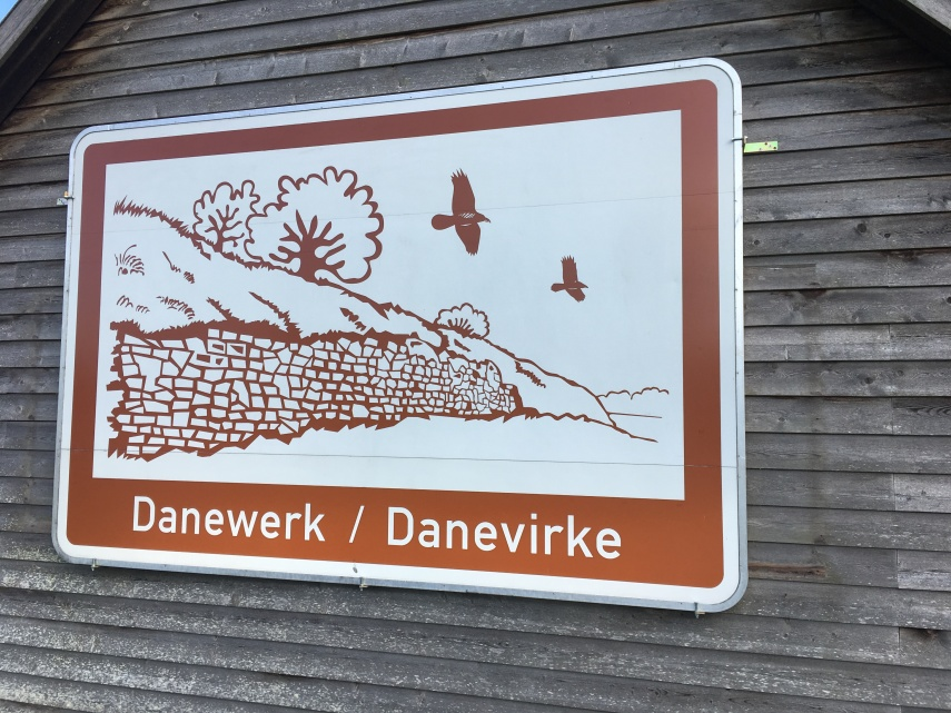 Historical plaquette at Danevirke