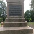 War memorial at Sankelmark near Dannevirke for a war between Germany and Denmark1864