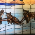Glass mosaic from the Arctic Club found at the MOHAI, Museum of History and Industry, SeattleWashington