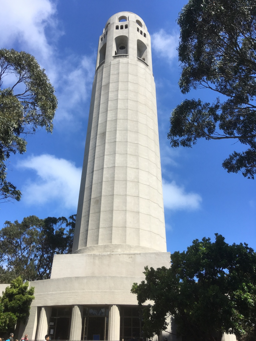 Coit Tower close to Lombard St. in San Francisco built in 1933