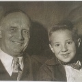 """A copy of a photo of Valdemar """"Holmsie"""" and a boy from his Bethel church inSeattle"""