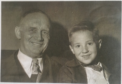 "A copy of a photo of Valdemar ""Holmsie"" and a boy from his Bethel church in Seattle"