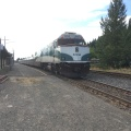 The Amtrak train at EugeneStation