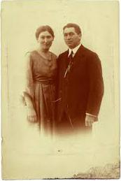 Asta og Emry som forlovede 1919