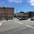 A Streetcar on Columbus Avenue near LombardStreet