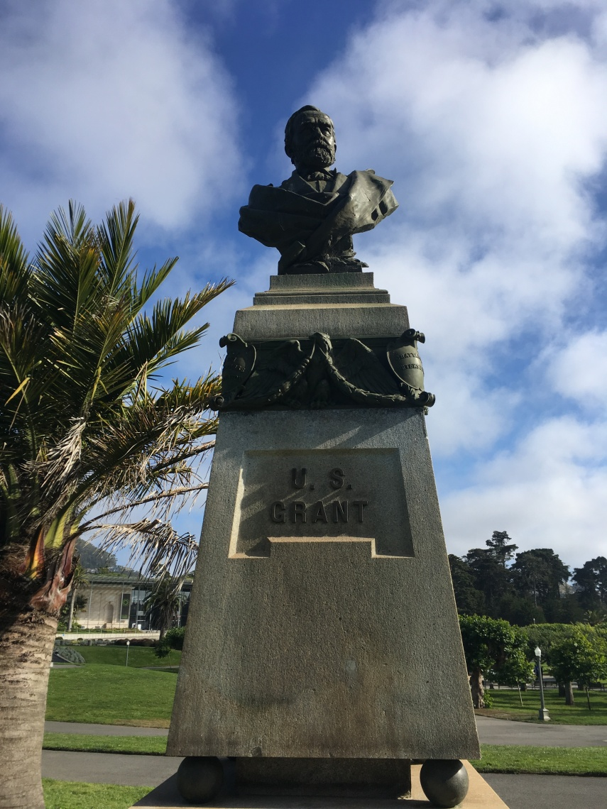 U.S. Grant bust in the Golden Gate Park of San Francisco