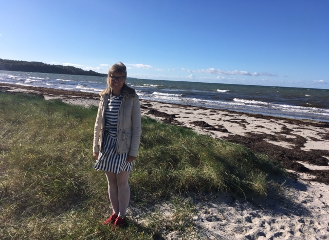 Visiting the beach close to the camp in 2017