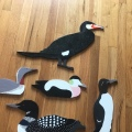 Anne-Mette's woodden Greenlandishbirds