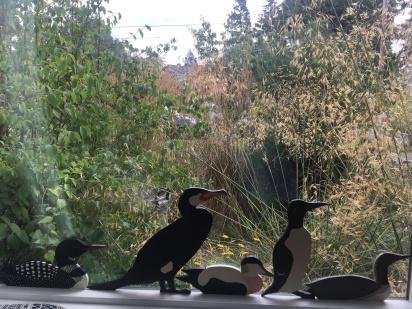 Anne-Mette's woodden Greenlandish birds