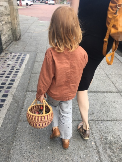 The Danish boy with the basket of toys