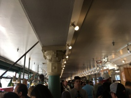 Inside the Pike Place Market at the harbour in Seattle
