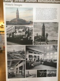 Pictures from the historic King Street Station shown on a poster