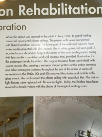 Description of the renovation at King Street Station Seattle.