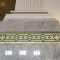 Detail of a column and the mosaic decorationunderneath