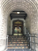 The arch way entrance of the Seattle YMCA building