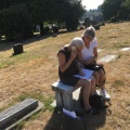 At the Mount Pleasant Cemetery, Seattle where the remains of our uncle need a headstone on hisgrave