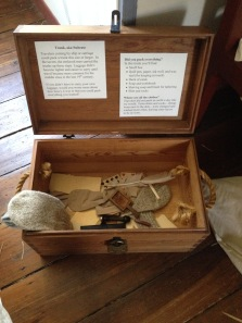 Info about a trunk and the hard work of the enslaved people who had to carry the luggage