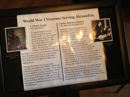 Info about World War I Veterans Serving Alexandria