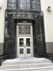 The entrance to the Rincon Annex building of the former Post Office in San Francisco