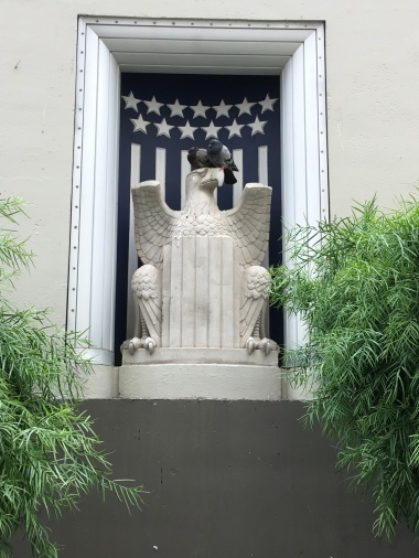 The Eagle as a decoration outside of the post office at the Rincon Annex building in San Francisco