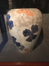 Thorvald Bindesbøll's glazed terracotta vase. T.B was a good friend of Joakim Skovgaard