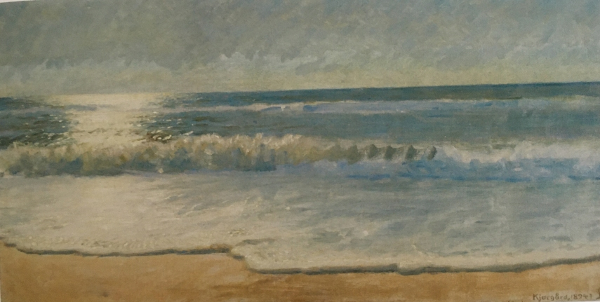 Niels Skovgaard, View over the sea in Jutland, Denmark, 1894
