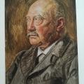 Painter Joakim Skovgaard's portrait of ThorvaldBindesbøll