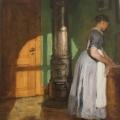 Joakim Skovgaard 1886, The maid in the bedroom ofRosenvænget