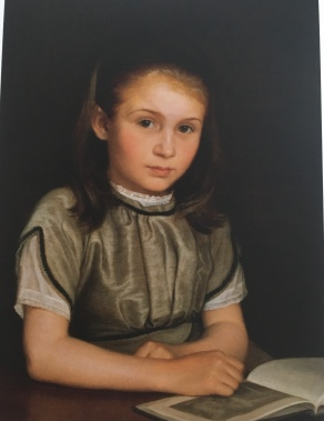 P.C. Skovgaard's painting of his daughter Suzette seven years old, 1870
