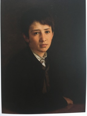 P.C. Skovgaard's portrait of his youngest son Niels Skovgaard thirteen years old in 1871.
